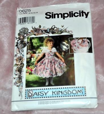 Uncut Einfachheit Daisy Königreich Nähen Muster 0625 Mädchen Kostüm Sz 8 To - Einfachheit Kostüm Kleid Muster