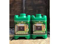 2 tubs of Cuprinol fence paint 'forest oak' brand new RRP £19