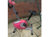 Marcy pink Exercise bike with computer