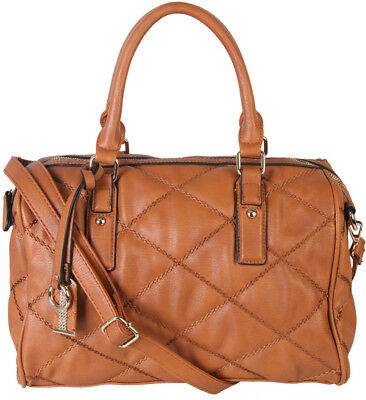 Quilt Pattern Soft Faux Leather Shop Tote Shoulder Bag Handbag Purse