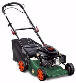 """QGarden 18"""" 140cc Self-Propelled 3-in-1 Mulching Petrol Lawn Mower AS NEW + WARRANTY (RRP £230!)"""
