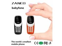 ZANCO BABYFONE WORLDS SMALLEST MOBILE BEAT THE BOSS 99% PLASTIC TINY MINI MOBILE