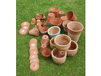 Ceramic Plant Pots Various Sizes.