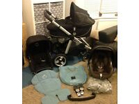 **ICANDY APPLE PUSHCHAIR (FULL TRAVEL SYSTEM) + MAXI COSI CAR SEAT + CARRYCOT + LINER (EX CONDITION)