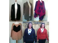 Bundle of Brand New Wholesale Knitwear End of Line Jumpers Cardigans For Resale Markets Car Boots