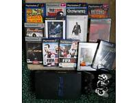 PLAYSTATION 2 WITH EXTRA CONTROLLER & 13 GAMES