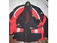 Motorcycle Akito Cobra Jacket Maxx Red/Black Scooter Bike - Size Medium ONLY £15