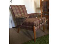 Tartan arm chair