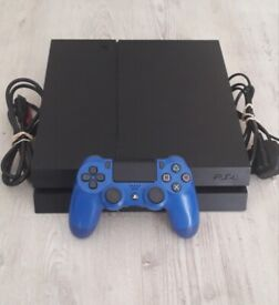 Playstation PS4 500G, all leads and official wireless controller - Digital only