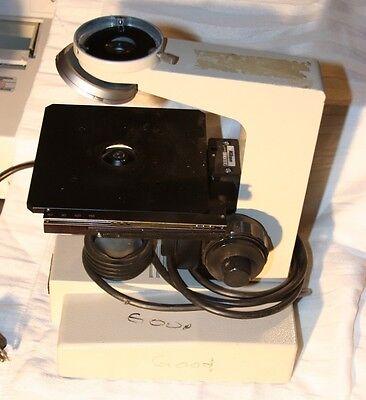 Nikon Microscope 3 Base Turret Adjustable Stage Table 1.25 Head