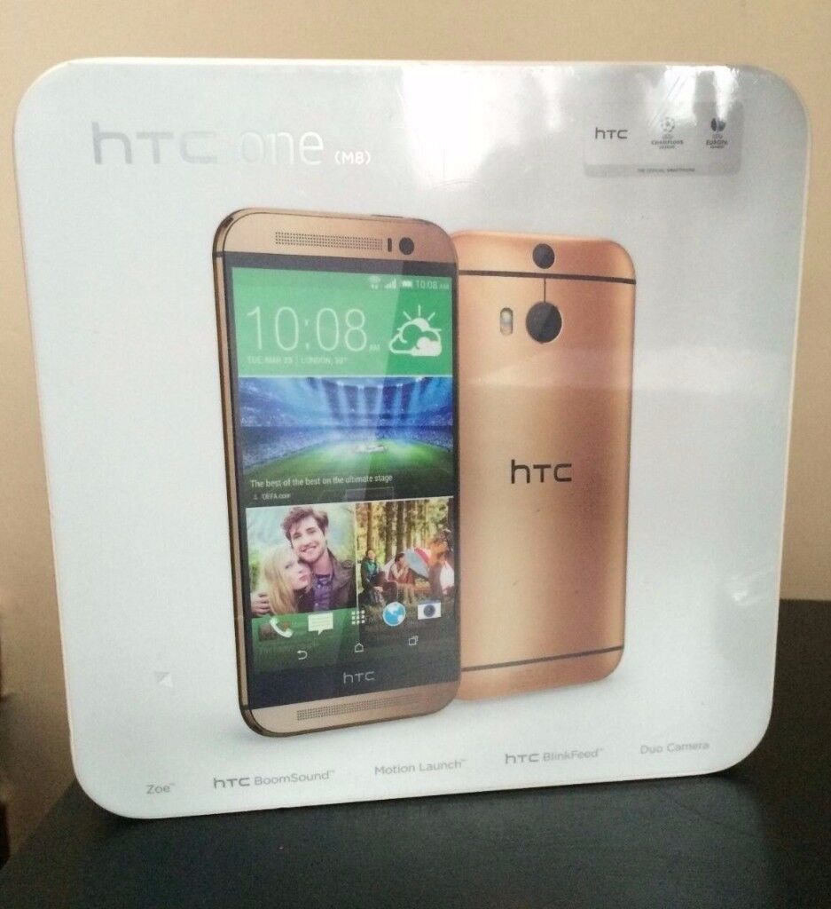 HTC One M8 - 16GB - Amber Gold (Unlocked) Smartphone SealPack NEW