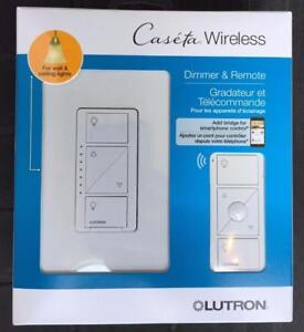 New, Lutron Caseta Wireless In-Wall Dimmer with Pico Remote Control- P-PKG1W-WH (Open Box)