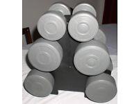12kg Dumbells Set Gym/Exercise/Workout/Keep Fit Dumbells