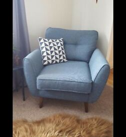 DFS French Connection 'Zinc' Teal Armchair