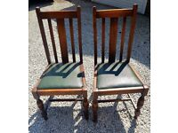 Set of 2 period dining chairs
