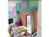 Hand renovated caravan love of my life 3/4 berth :)