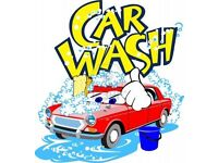 Hand car wash workers wanted