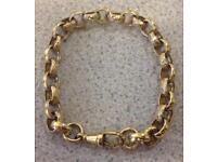 "9ct Gold Belcher Bracelet, 22g, 8.5"""
