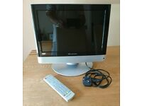 Wharfedale L15T11W-C HD Ready LCD TV Combi 15 Inch Screen & Remote Control As New Condition