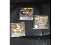 PS1 and games...Rayman, Crash Bandicoot etc