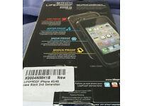 Lifeproof case New, iphone 4 & 4s black