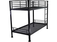 Bed Frame Single Bed Bunk new black