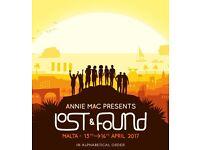 1x Lost and Found festival ticket, Malta - £50