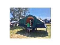Vintage trailer tent, price includes all you need .