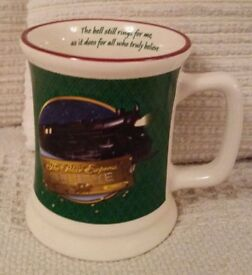 THE POLAR EXPRESS BELIEVE GREEN 3D MUG TANKARD WITH HOT CHOCOLATE AND CANDY CANE