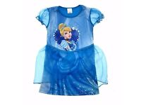 Girls Disney Dress Up Costume Cinderella Princess Fancy Dress Party Outfit Size UK 3-6 Years