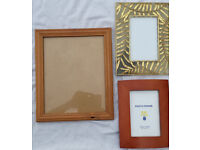 3 photoframes and Ikea mirror