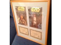 Star Wars signed & professionally framed limited edition comics with certificates.