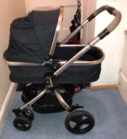 Mothercare Orb Black Pushchair with Rose Gold Frame