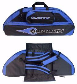 AVALON CLASSIC BLUE COMPOUND BOW BAG 106CM - 1 X RED & 1 BLUE - NEW