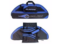AVALON CLASSIC BLUE COMPOUND BOW BAG 106CM - 1 X RED & 1 BLUE - NEW