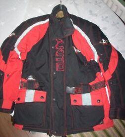 Motorcycle Scooter Bike Jacket Akito Cobra Maxx Red/Black - Size Medium