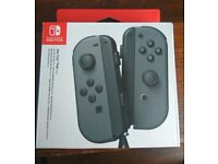 BRAND NEW IN BOX Nintendo Switch Joy-Con Controller Pair - Grey