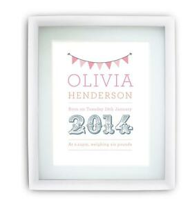 Personalised Childrens Name Picture Print Boys Girls A5