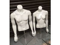 MANIQUINS HALVE BODY WITH STAND