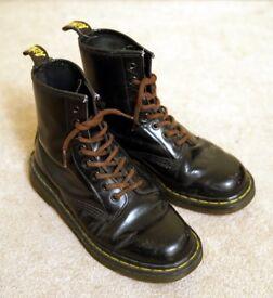 Doc Martens Boots, Size 5, black leather