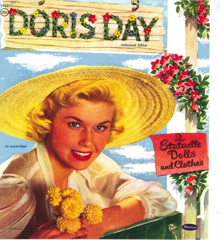 VINTAGE UNCUT 1955 DORIS DAY PAPER DOLLS CUTE HD~LASER REPRODUCTION~LO PRICE~