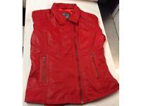 stylish Genuine Leather Medium Red Leadies