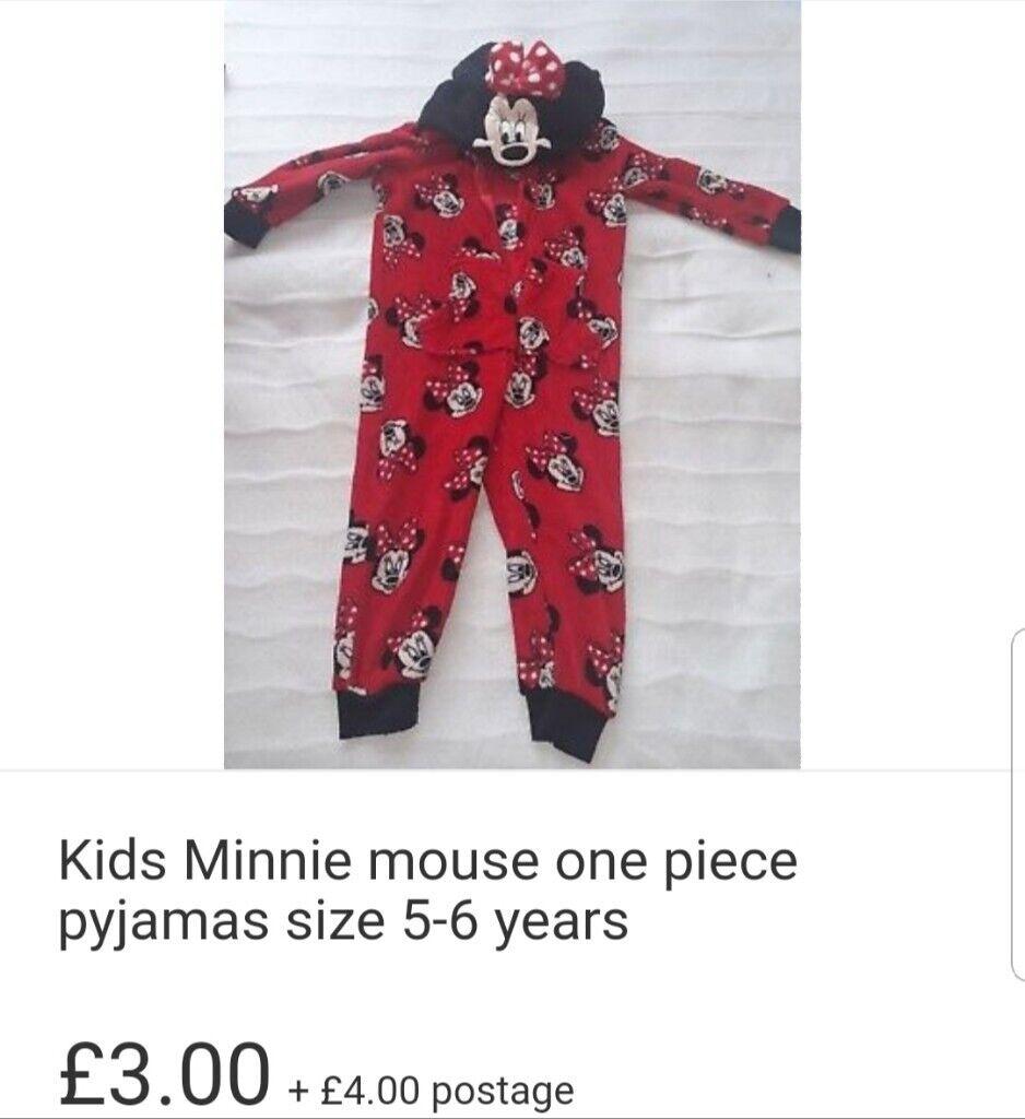 41a09093bb5 Girls minnie mouse onesie size 5-6 years   in Erdington, West ...