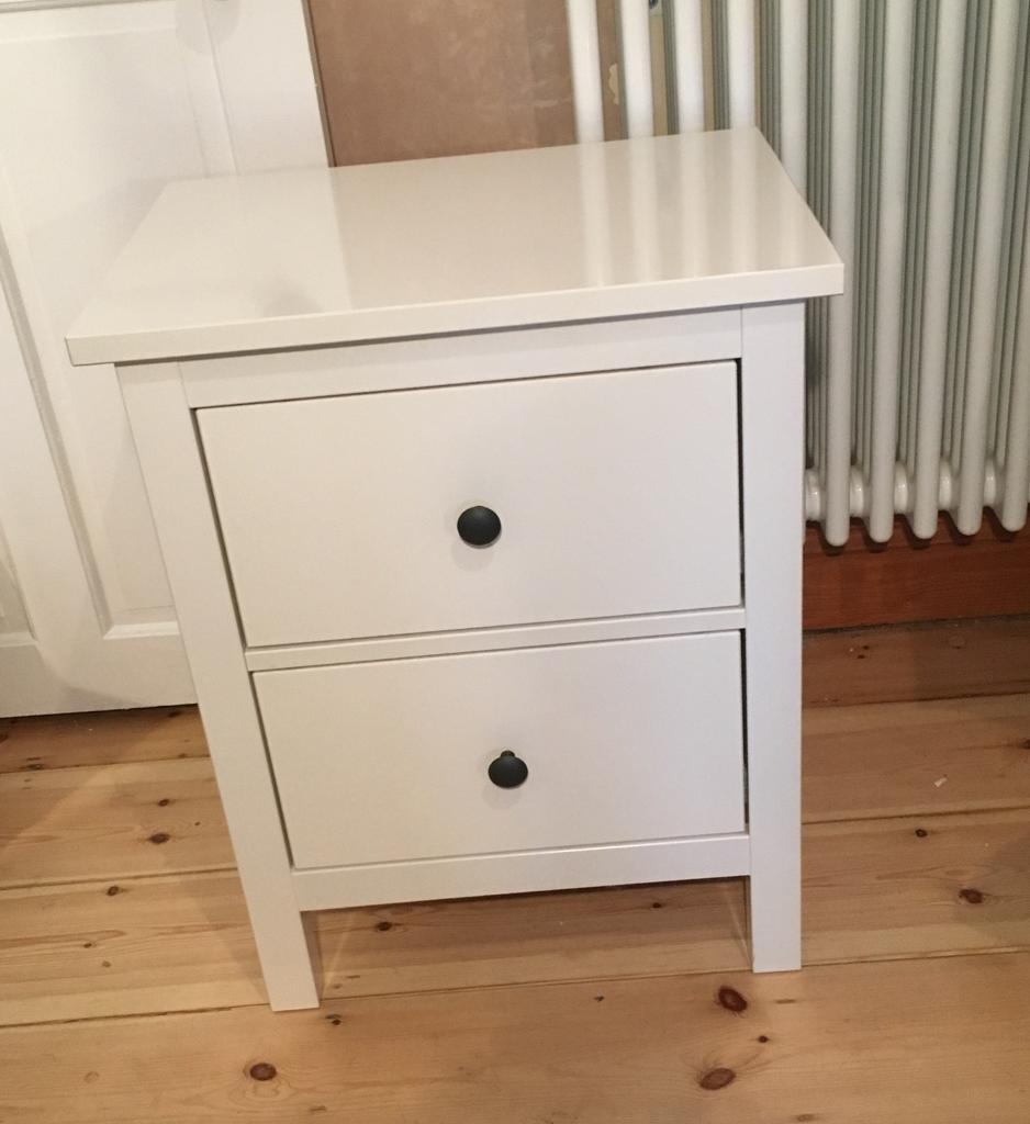 White Hemnes 2 Drawer Bedside Table In Gravesend Kent Gumtree