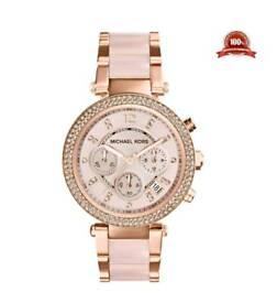 Michael kors ladies rose gold watch BN