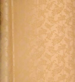 NEW Gold Damask Curtain Fabric 54x7 Metre+ Upholstery Restoration Props Theatre Furnishing Christmas
