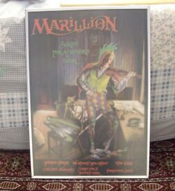 Marillion Picture, In Good Quality Wooden Frame. It is 26 inches high by 20 inches wide.
