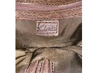 Brown leather man satchel bag by CLARKS