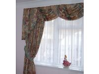 "CURTAINS Each curtain 88"" wide x 76"" drop. Three swags and Tails.Suit window up to 2m."