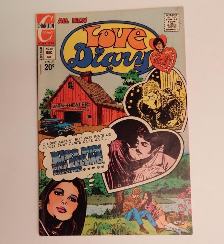 1972 Bronze Age Romance Comic Book Love Diary Charlton No. 81 Bobby Sherman Page